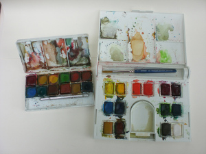 watercolors sets 1 by niftynotebook on Flickr