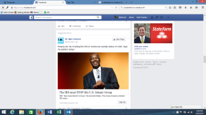 Ben Carson sponsored ad in my Facebook timeline